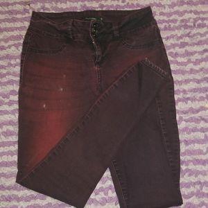 Multi- faded Skinny Jeans